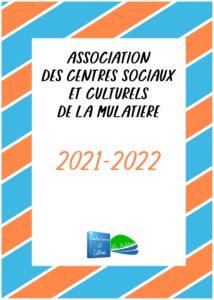 Plaquette 2021-2022 de l'Association des Centres Sociaux et Culturels de La Mulatière